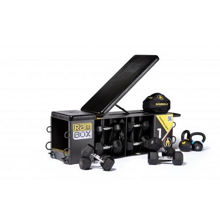 RAMBOX BLACK PACK stazione multiuso salvaspazio con panca slitta plyobox e molto altro